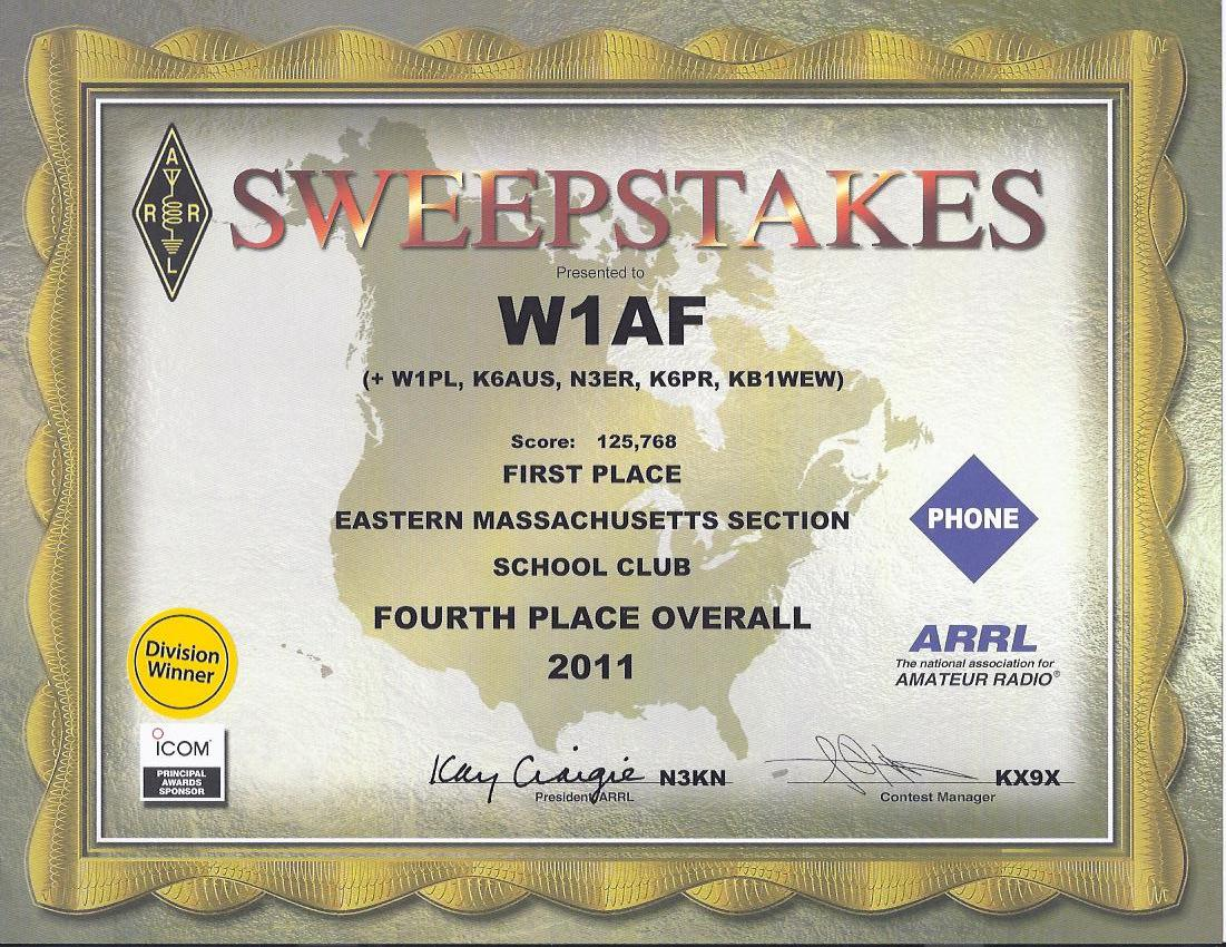 Harvard College Wireless Club--W1AF